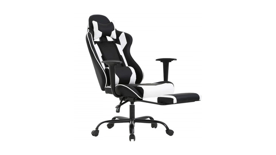 BestOffice Gaming Chair with Headrest & Footrest