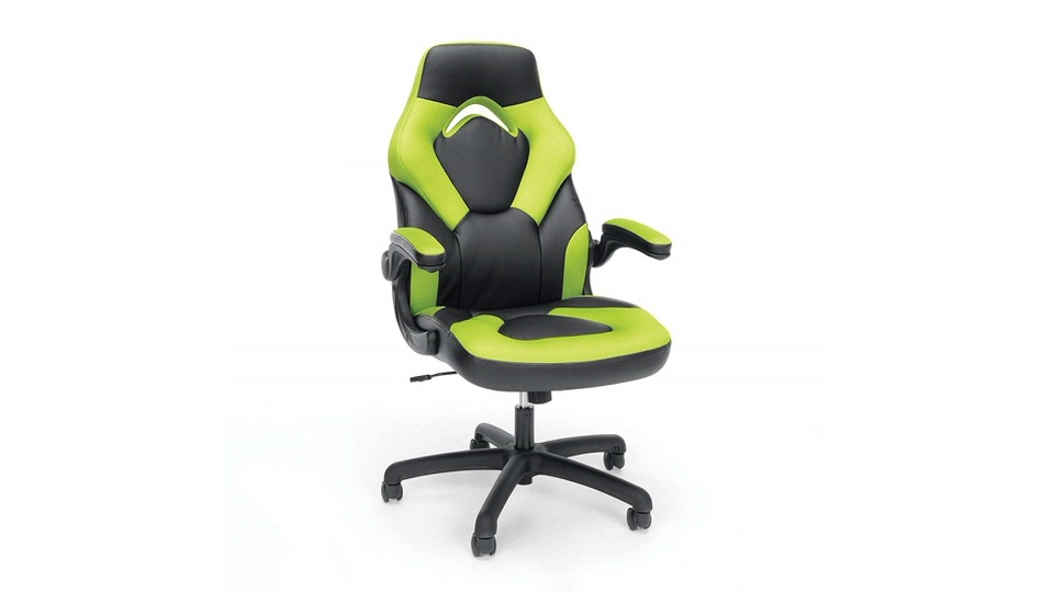OFM Essentials Racing Style Leather Gaming Chair